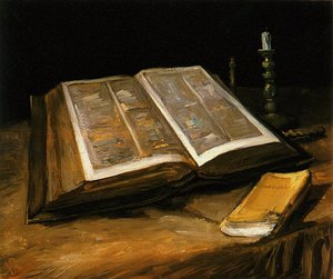 Reproduction oil paintings - Vincent Van Gogh - Still Life With Bible
