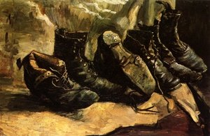 Reproduction oil paintings - Vincent Van Gogh - Three Pairs Of Shoes