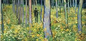 Reproduction oil paintings - Vincent Van Gogh - Undergrowth With Two Figures