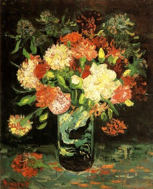 Reproduction oil paintings - Vincent Van Gogh - Vase With Carnations