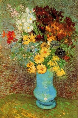 Reproduction oil paintings - Vincent Van Gogh - Vase With Daisies And Anemones