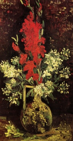 Reproduction oil paintings - Vincent Van Gogh - Vase With Gladioli And Carnations II