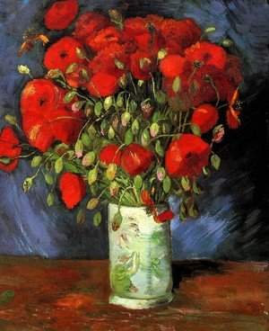 Famous paintings of Vases: Vase With Red Poppies