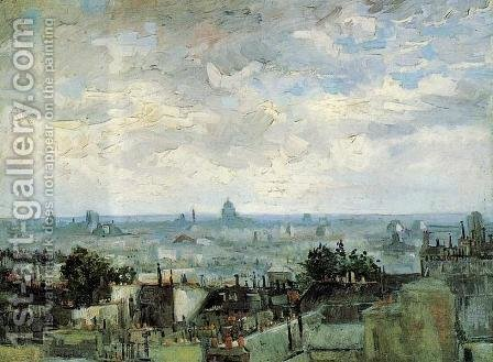 View Of The Roofs Of Paris by Vincent Van Gogh - Reproduction Oil Painting