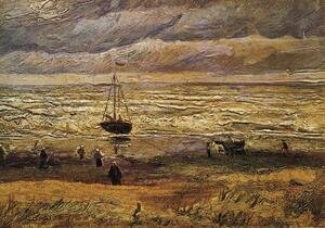 Reproduction oil paintings - Vincent Van Gogh - View Of The Sea At Scheveningen