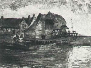 Famous paintings of Mills: Water Mill At Gennep