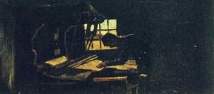 Famous paintings of Studios and Workshops: Weaver Arranging Threads II