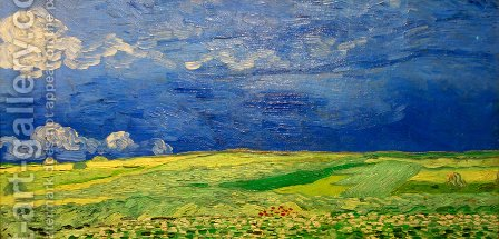 Vincent Van Gogh: Wheat Field Under Clouded Sky - reproduction oil painting