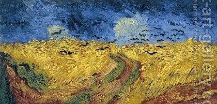Wheat Field With Crows by Vincent Van Gogh - Reproduction Oil Painting