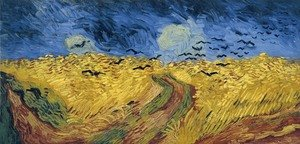 Famous paintings of Animals: Wheat Field With Crows