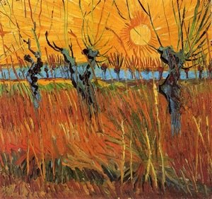 Famous paintings of Trees: Willows At Sunset