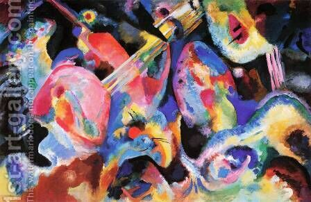 Wassily Kandinsky: Flood Improvisation - reproduction oil painting