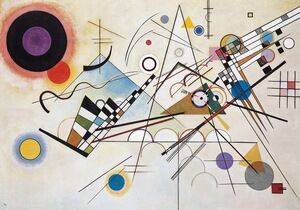 Famous paintings of Abstract: Composition VIII