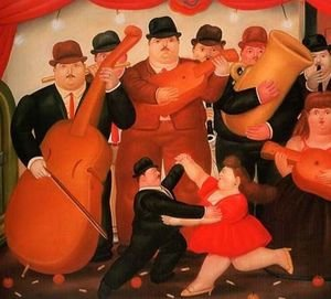 Fernando Botero reproductions - Ball In Colombia