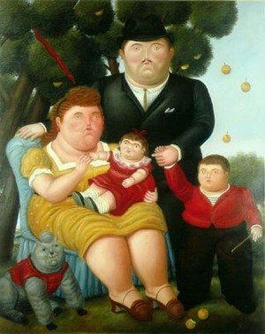 Reproduction oil paintings - Fernando Botero - A Family Una Familia