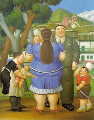 Reproduction oil paintings - Fernando Botero - A Family II