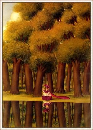Reproduction oil paintings - Fernando Botero - Walking Next To The River