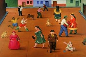 Reproduction oil paintings - Fernando Botero - The Square