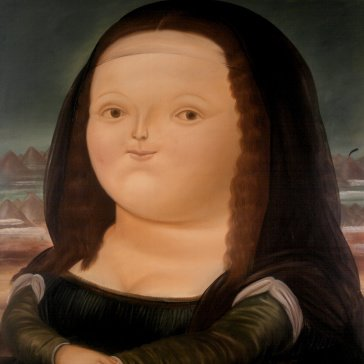 Oil painting reproductions - Women - Fernando Botero: Mona Lisa Monalisa