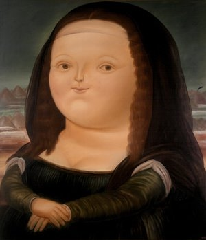 Reproduction oil paintings - Fernando Botero - Mona Lisa Monalisa