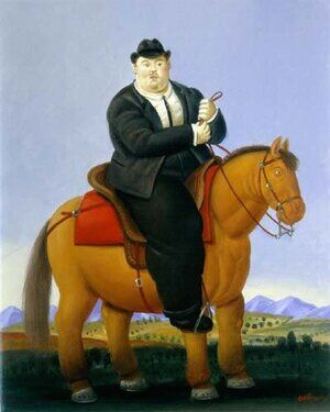 Famous paintings of Horses & Horse Riding: Man On Horse