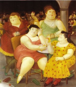 Reproduction oil paintings - Fernando Botero - Four Woman
