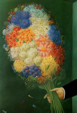 Reproduction oil paintings - Fernando Botero - Flowers Flores