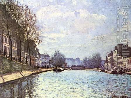 Alfred Sisley: The St. Martin Canal 1870 - reproduction oil painting