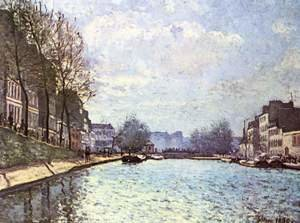 Reproduction oil paintings - Alfred Sisley - The St. Martin Canal 1870