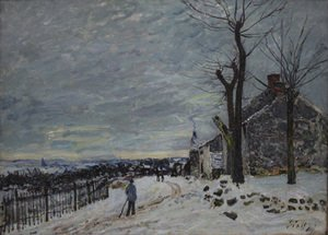 Reproduction oil paintings - Alfred Sisley - Snowy Weather At Veneux Nadon