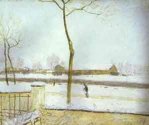 Reproduction oil paintings - Alfred Sisley - Snow Scene Moret Station