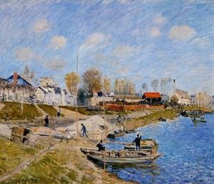 Reproduction oil paintings - Alfred Sisley - Sand On The Quayside Port Marly