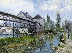 Famous paintings of Mills: Provencher's Mill at Moret 1883