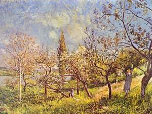 Reproduction oil paintings - Alfred Sisley - Orchard In Spring