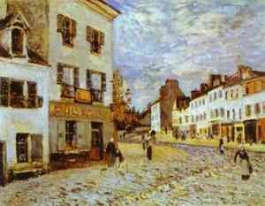 Reproduction oil paintings - Alfred Sisley - Market Place At Marly