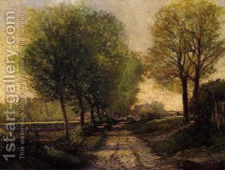 Alfred Sisley: Lane Near A Small Town - reproduction oil painting