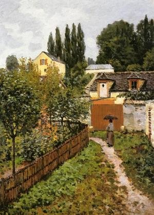Alfred Sisley reproductions - Garden Path In Louveciennes