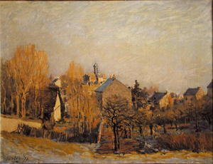 Reproduction oil paintings - Alfred Sisley - Frost In Louveciennes