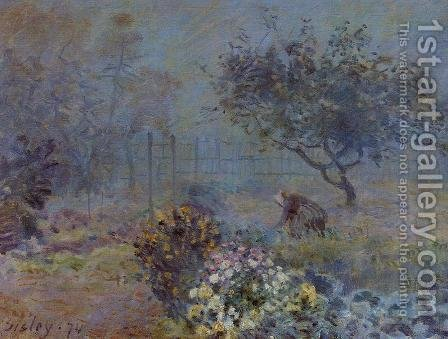 Foggy Morning Voisins by Alfred Sisley - Reproduction Oil Painting