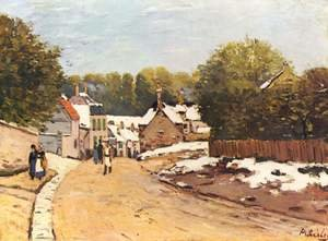 Reproduction oil paintings - Alfred Sisley - Early Snow at Louveciennes 1870-71