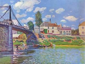 Reproduction oil paintings - Alfred Sisley - The Bridge at Villeneuve-la-Garenne 1872