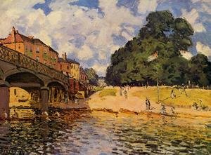 Reproduction oil paintings - Alfred Sisley - Bridge At Hampton Court
