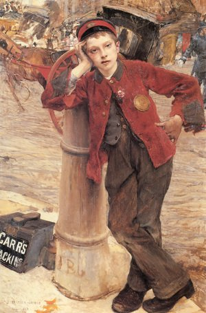 Reproduction oil paintings - Jules Bastien-Lepage - Lepage The London Bootblack