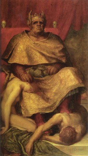 Reproduction oil paintings - George Frederick Watts - Mammon 1884 5