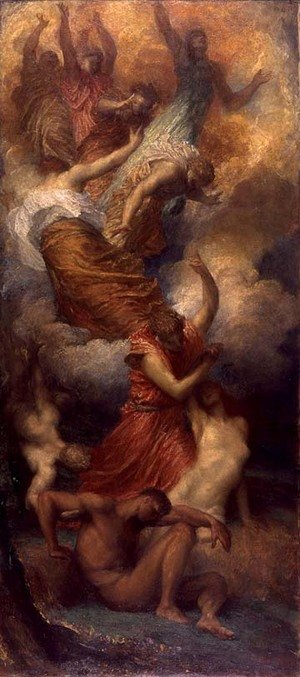 Reproduction oil paintings - George Frederick Watts - The Creation Of Eve C1865 C1899