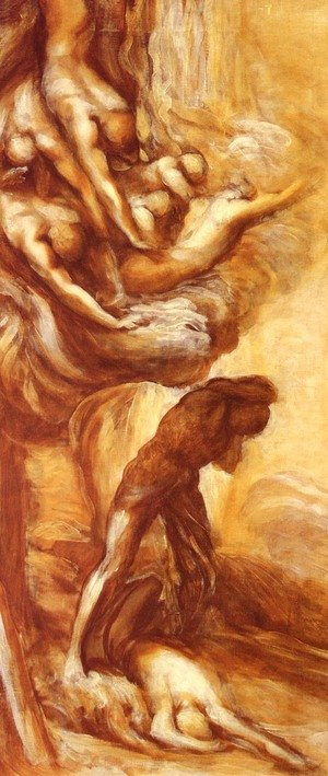 Reproduction oil paintings - George Frederick Watts - The Denunciation Of Cain