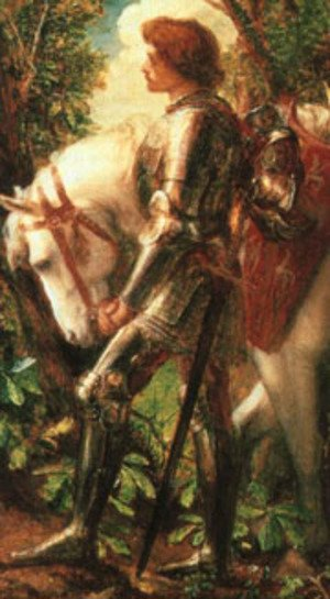 Famous paintings of Horses & Horse Riding: Sir Galahad