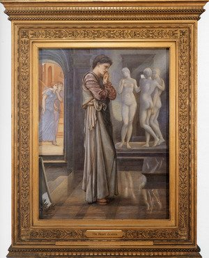 Pre-Raphaelites painting reproductions: Pygmalion And The Image: I   The Heart Desires