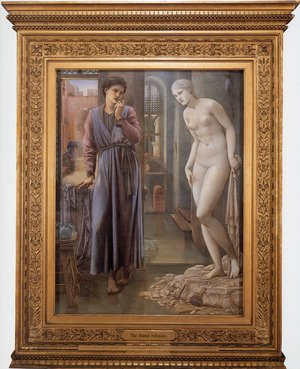Pre-Raphaelites painting reproductions: Pygmalion And The Image: II   The Hand Refrains