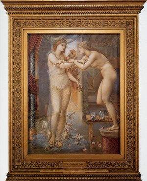 Pre-Raphaelites painting reproductions: Pygmalion And The Image: III   The Godhead Fires
